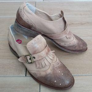 BP Nordstrom Wingtip Oxford Fringe Buckle Shoes